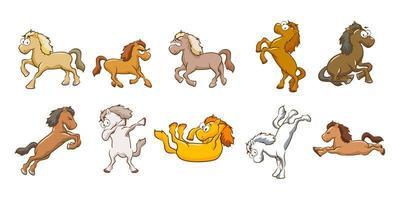 insieme del fumetto del cavallo