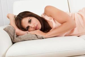 Young Woman Relaxing At Home photo