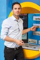 Man at the ATM photo