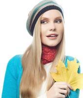 woman autumn photo