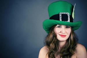 woman dressed as a leprechaun photo