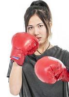 woman boxing photo