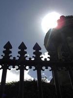 Gate at Back-lit photo