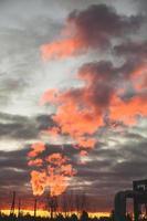feu dans le ciel