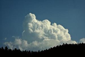 Cielo con nube photo