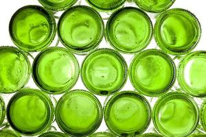Bottoms of empty glass bottles photo