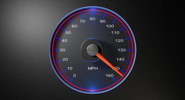 velocímetro mph rápido