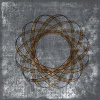 Grunge sepia background with atomic nucleus