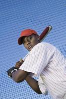 bateador de béisbol durante la práctica foto