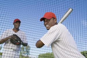 Baseball Players at Batting Practice photo