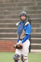 Baseball catcher in stadium