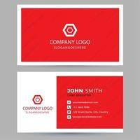Red Diagonal Stripe Business Card vector