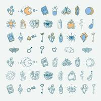 Set Of Magical Elements vector