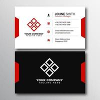 White and Gray Business Card with Red accents vector