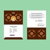 Light and Dark Brown Geometric ID Card vector