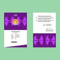 Geometric Shapes Purple ID Card