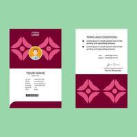 cartão de identificação de formas geométricas rosa vertical