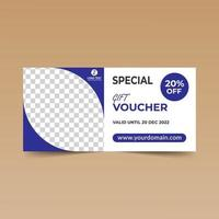 Blue Corner Simple Gift Voucher Card