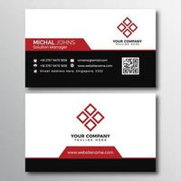 Black and White Business Card with Red Accents vector