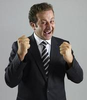 Businessman cheering photo