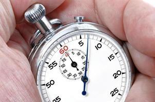 cronômetro em uma mão