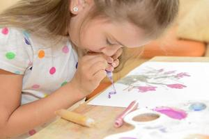 Little Girl Painting photo