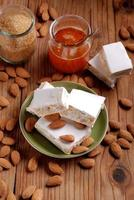 almond nougat pieces