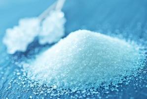 cristaux de sucre blanc