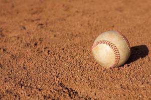 Baseball on the Infield Dirt photo
