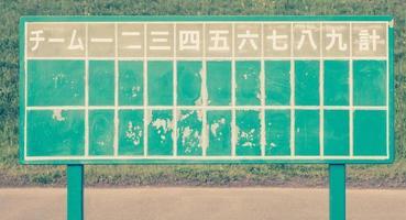 Japanese baseball score board