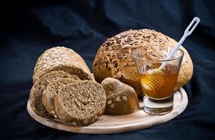 Bread and honey photo