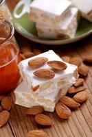 almond nougat pieces