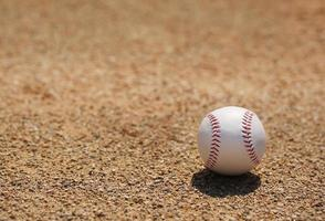 Baseball on Field with Copy Space photo