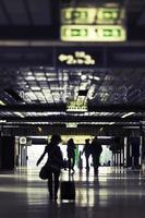 Underground train station passage