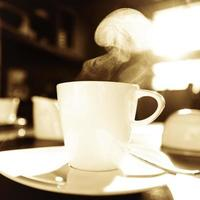 steaming cup photo