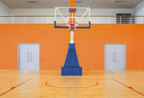 Empty basketball court photo