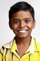 Cheerful Indian teen boy photo