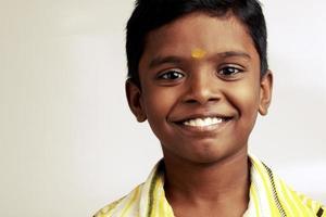 Cheerful Indian teen boy