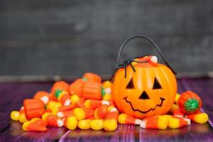 Halloween Candy Background with Copy Space