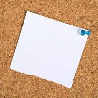 nota recordatoria en blanco como espacio de copia