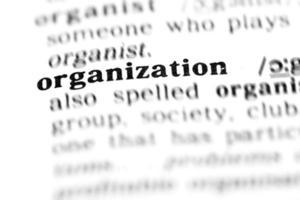 organisation (le projet de dictionnaire)