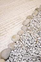 Japanese sand and stone garden