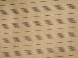 Sheet music photo
