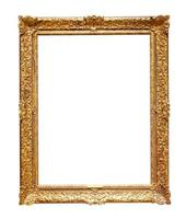 Classic golden picture frame photo