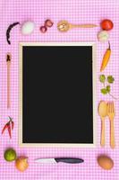 ingrediente alimentario y espacio de copia foto