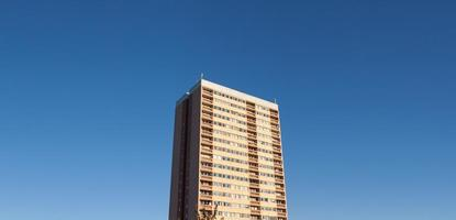 Tower block with copy space photo