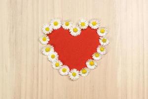 corazón de margaritas, copia espacio foto