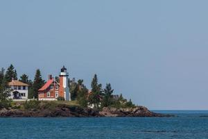 Lake Superior Lighthouse with Copy Space