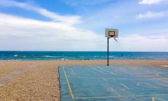 deserted basketball court