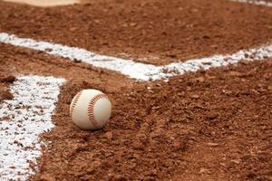 Baseball near the Batters Box